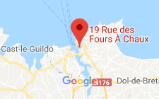 Map for 19 rue des fours à chaux Saint Malo  35400 France