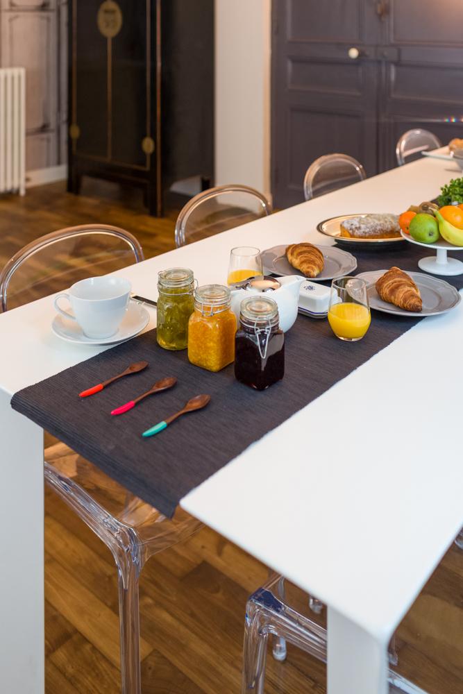 Table des petits déjeuners