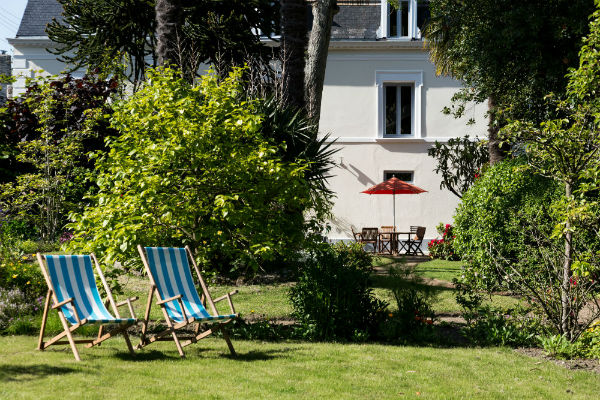 Rest and relax at the garden of the villa