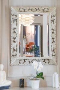 détail miroir, chambre d'hote de charme