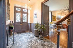 Hall d'entrée des chambres d'hôtes Villa Saint Raphaël